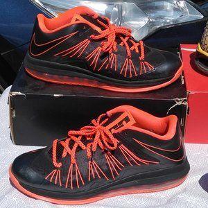 Nike air lebron X 10 low flywire lava black orange